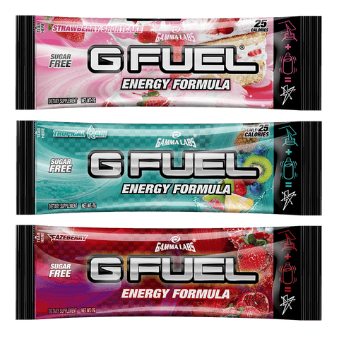 G FUEL Starter Kit (Twisted Kandy Shaker + 7 Pack)