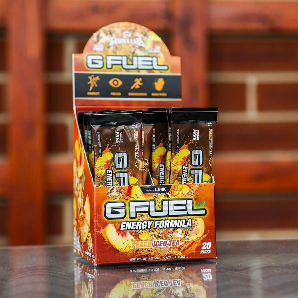 "G FUEL Box - ""Peach Panther Punch"" (Peach Iced Tea)"
