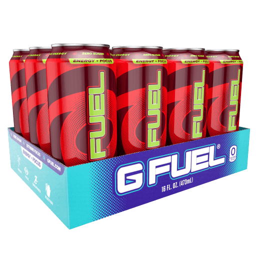 G FUEL| Sour Cherry Cans RTD 12 Pack RTD-SC12