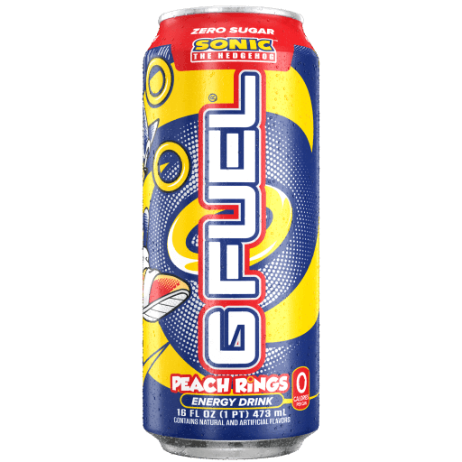 G FUEL| Sonic's Peach Rings (Cans 4 Pack) RTD