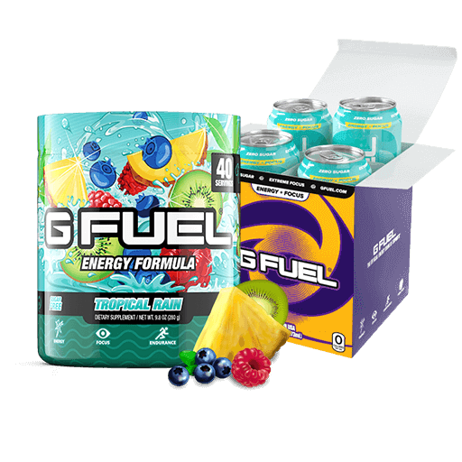 Tropical Rain Bundle (Tub + Cans 4 Pack)