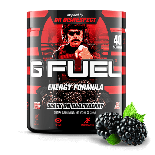 Dr. Disrespect's Black on Blackberry Tub - 40 servings