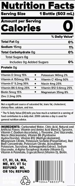 Sparkling Hydration Nutrition Facts
