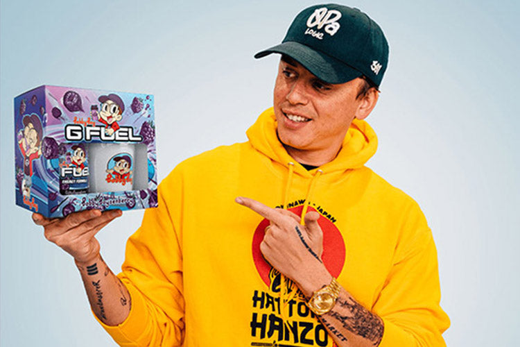 """G FUEL AND MULTI-PLATINUM RAPPER LOGIC ARE RELEASING A """"BOBBY BOYSENBERRY"""" ENERGY DRINK ON FEBRUARY 17TH"""