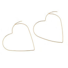 Load image into Gallery viewer, Heart Earrings - Gold