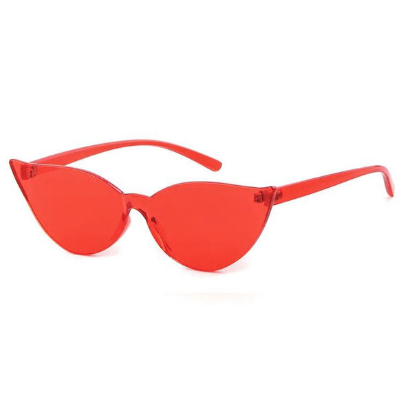 Kitty On Fleek Cat Eye Sunglasses - Red