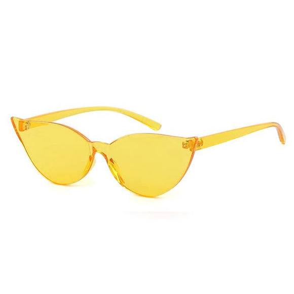 Kitty On Fleek Cat Eye Sunglasses - Yellow