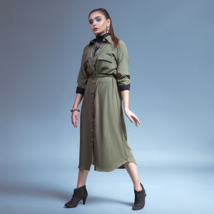 Life In The Spotlight Belted Shirt Dress