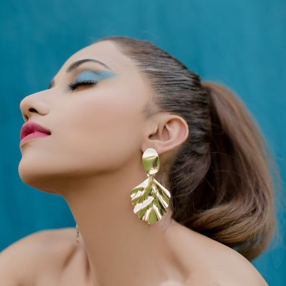 Punk Earrings-Gold