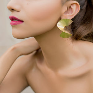 Twisted Earrings-Gold