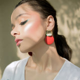 Color Pop Earrings - Red