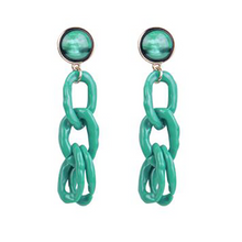 Load image into Gallery viewer, Chain Reaction Drop Earrings
