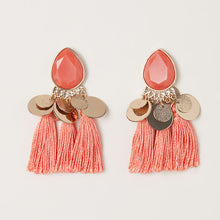 Load image into Gallery viewer, Boho Fringe Earrings - Peach