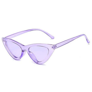 Candy Cat Eye Sunglasses-Purple