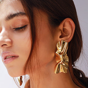 Irregular Sass Earrings - Gold