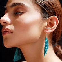 Load image into Gallery viewer, Luxe Drip Earrings-Blue