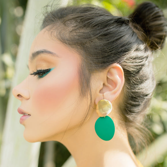 Color Pop Earrings-Green