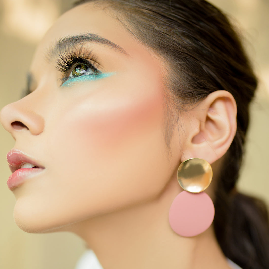 Color Pop Earrings - Pink