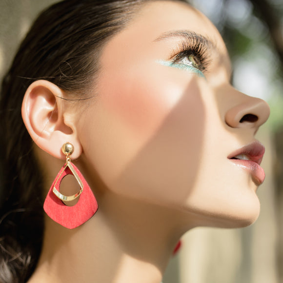 Statement Babe Earrings - Red