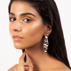 All Over You Drop Earrings - Silver