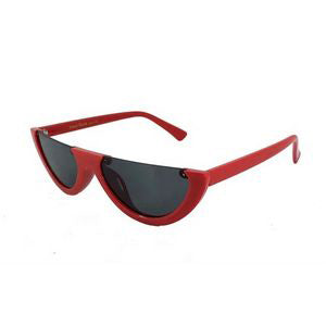 On Fleek Cat Eye Sunglasses-Red
