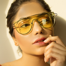 Load image into Gallery viewer, Slay babe Oversized Sunglasses-Yellow