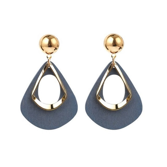 Statement Babe Earrings - Grey