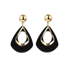 Load image into Gallery viewer, Statement Babe Earrings-Black