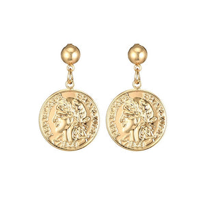 Medusa Coin Earrings