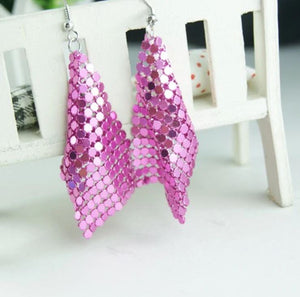 Luxe Drip Earrings - Pink
