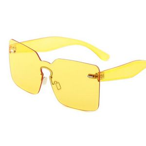 Dip in Sass Oversized Sunglasses-Yellow