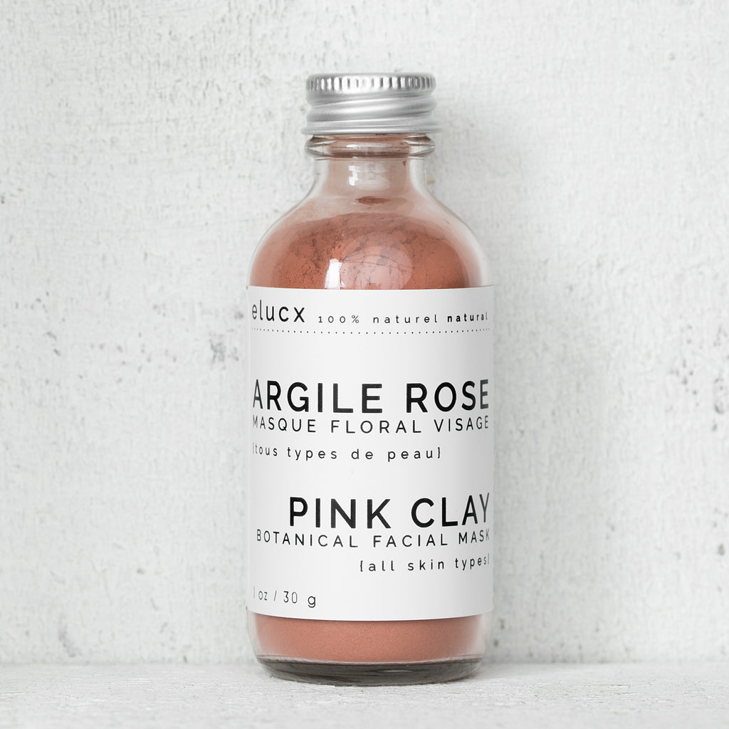 PINK CLAY Botanical Facial Mask|ARGILE ROSE Masque Floral Visage