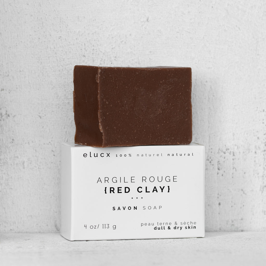 {RED CLAY} Soap *Dull / Tired / Dry Skin|Savon {ARGILE ROUGE} *Peau Sans Eclat / Sèche