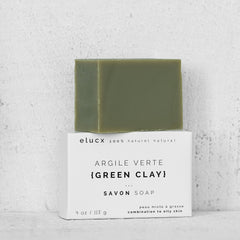 {GREEN CLAY} Soap Combination skin type| Savon {ARGILE VERTE} pour Peau mixte