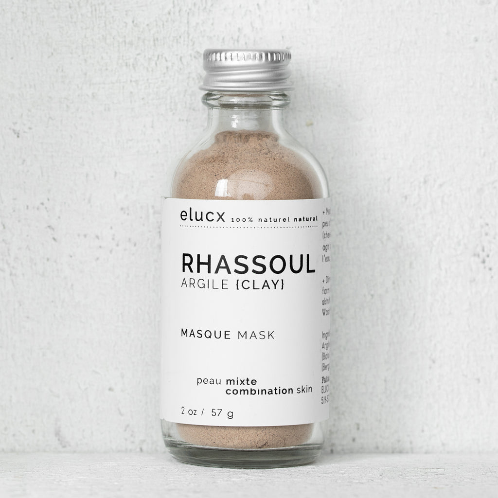 RHASSOUL CLAY Mask {Combination Skin}| Masque d'ARGILE RHASSOUL {Peau Mixte}