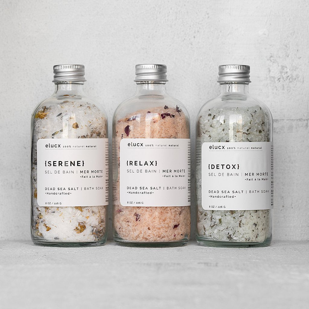 DELUXE Dead Sea Salt Bath Soaks Gift Set|DELUXE Ensemble Sels de Bain de la Mer Morte