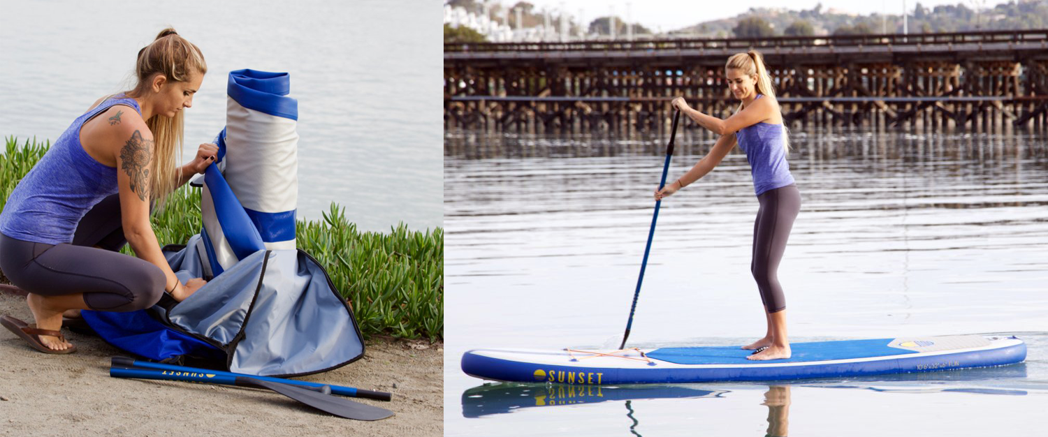 10 4 fun all rounder inflatable stand up paddle board action