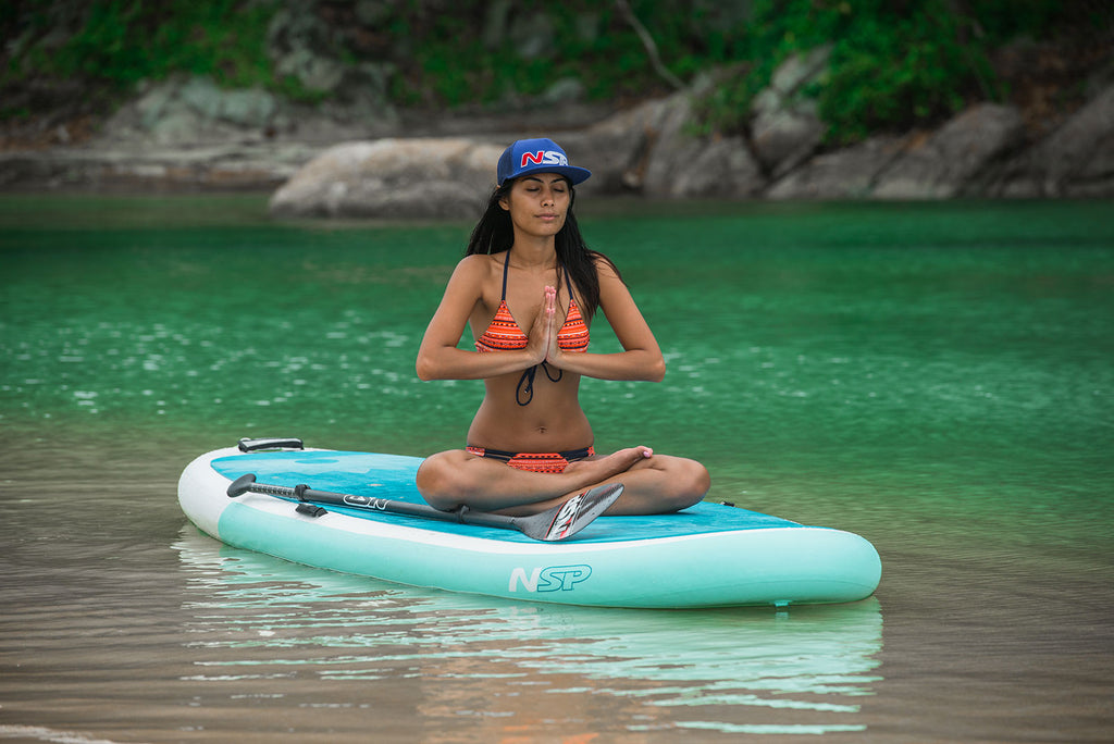 paddle board yoga is great for relaxation