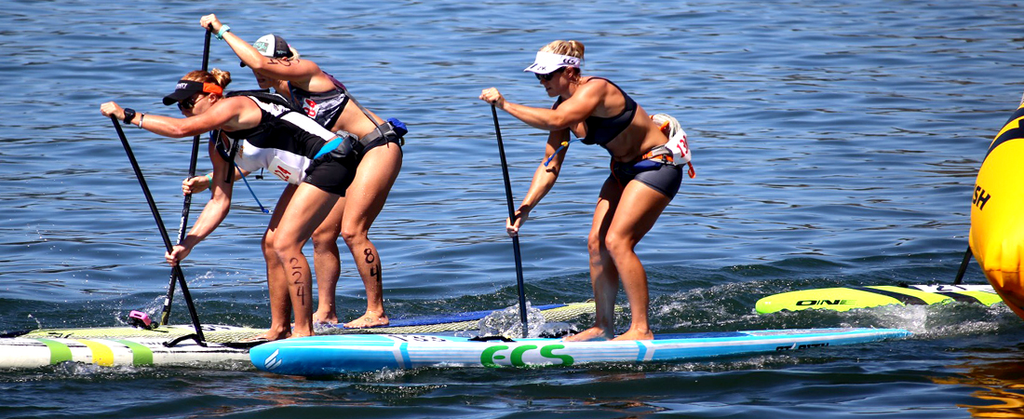 ecs athletes paddleboard racing