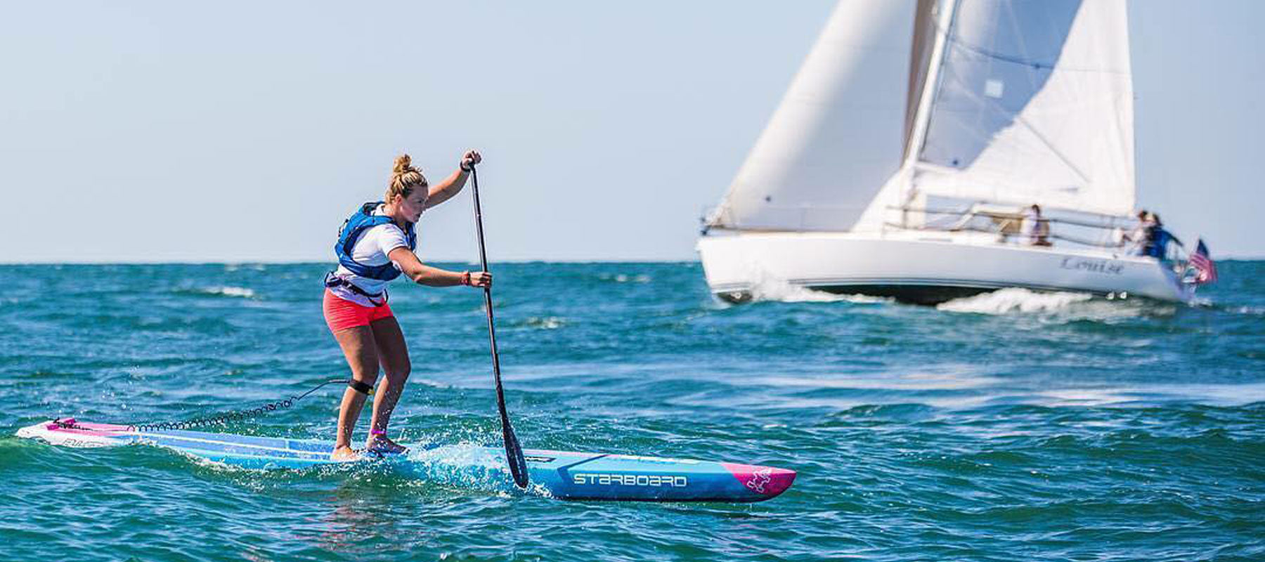 fiona wylde racing on the starboard all star