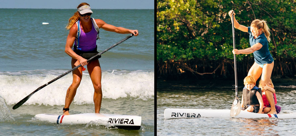 Kim Barnes racing and family with Riviera Paddlesurf