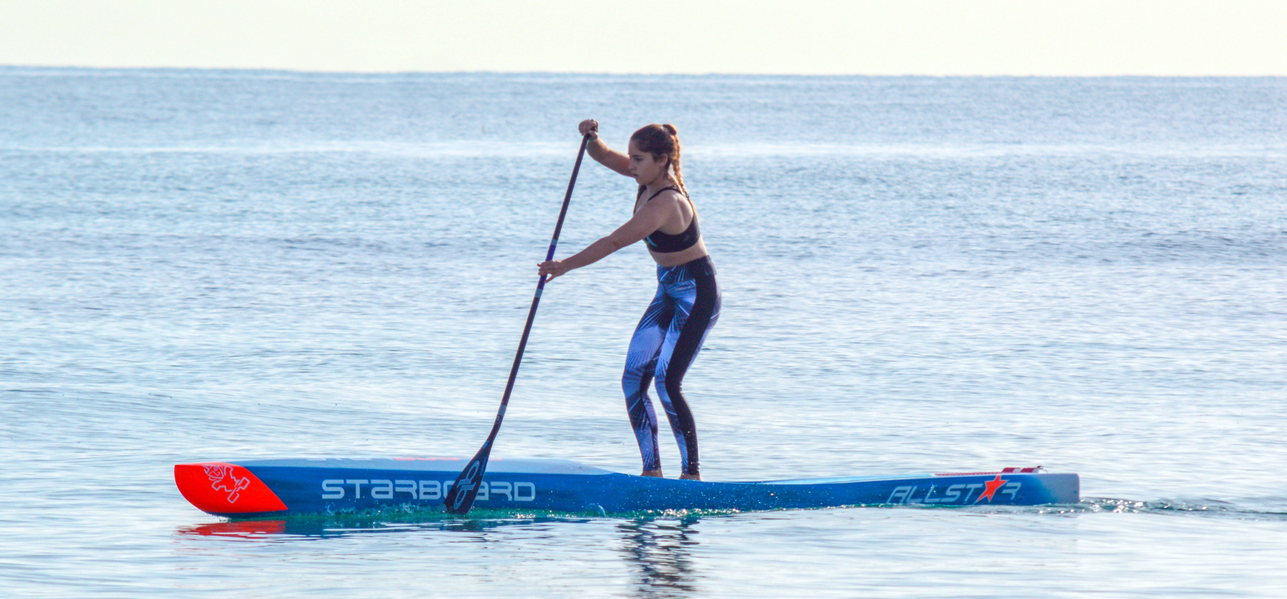 Sheila Sirvant paddle boarder