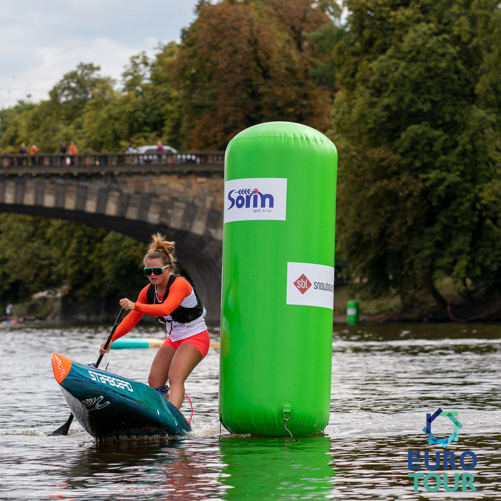 fiona wylde paddling a 2022 starboard sprint