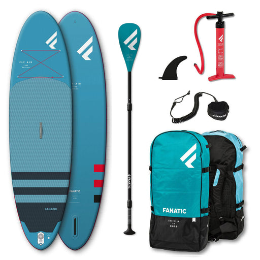 "Fanatic Fly Air 10'8"" All Rounder Inflatable Stand Up Paddle Board Package 2020"