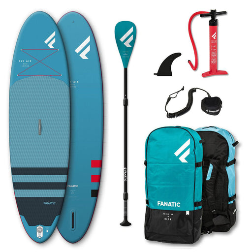 "Fanatic Fly Air 10'4"" All Rounder Inflatable Stand Up Paddle Board Package 2021"