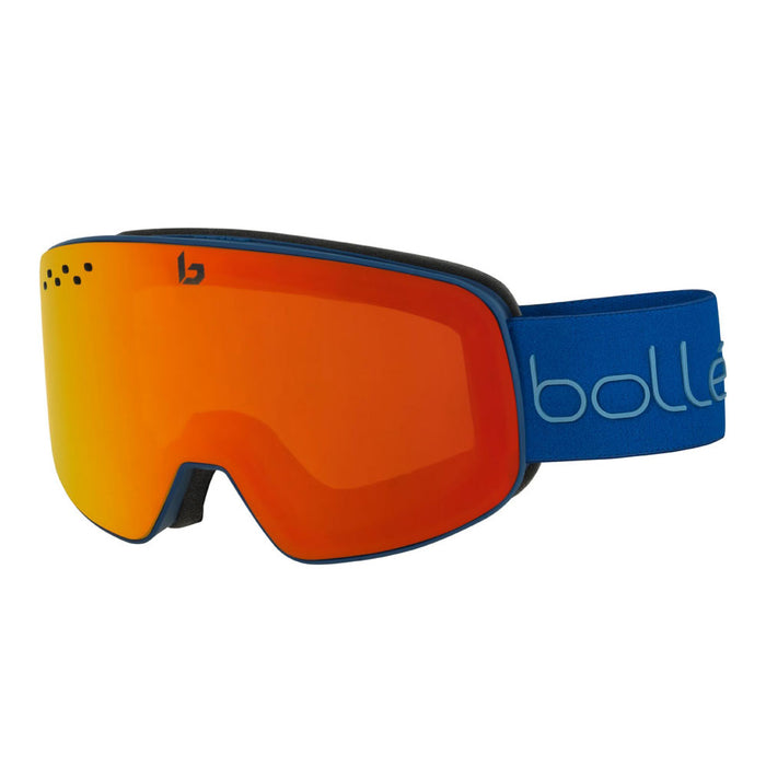 Bolle Nevada Matte Blue & Red Diagonal Ski and Snowboard Goggles