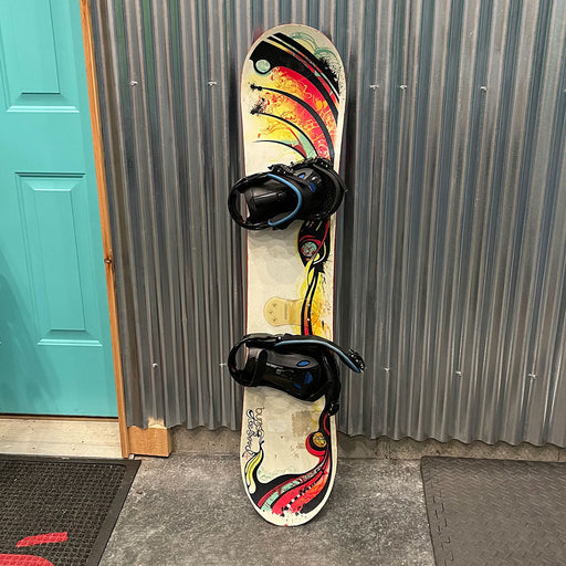 Burton Feel Good 130cm Snowboard w/ Bindings - USED