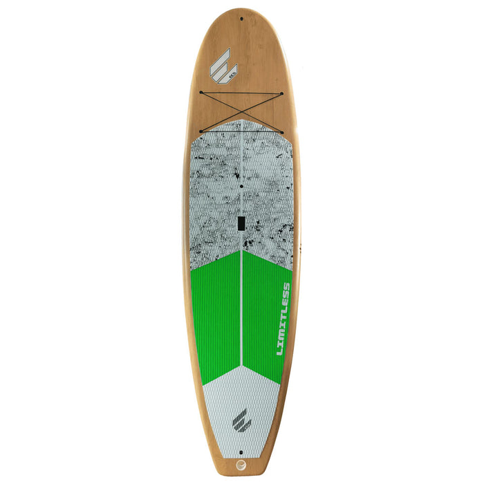 "ECS Limitless 11'4"" Stand Up Paddleboard Package - Green/Wood top"