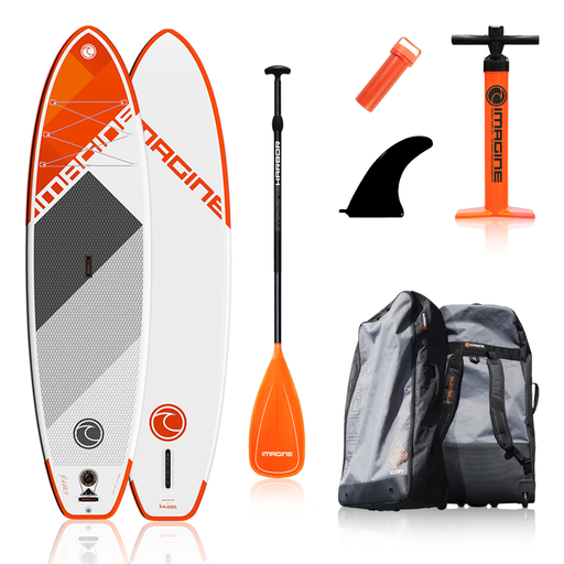 Imagine Icon DLX 11' All Around Inflatable Stand Up Paddle Board Package 2020