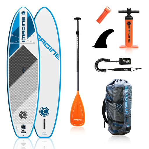 Imagine Icon LTE 11' All Around Inflatable Stand Up Paddle Board Package 2020